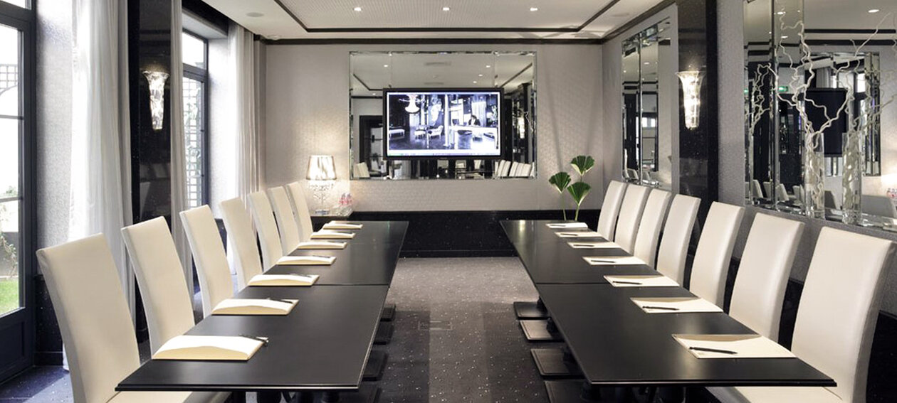 "65.0"" Mirror TV for hospitality application, installed in a conference room @ Opera Diamond in France."
